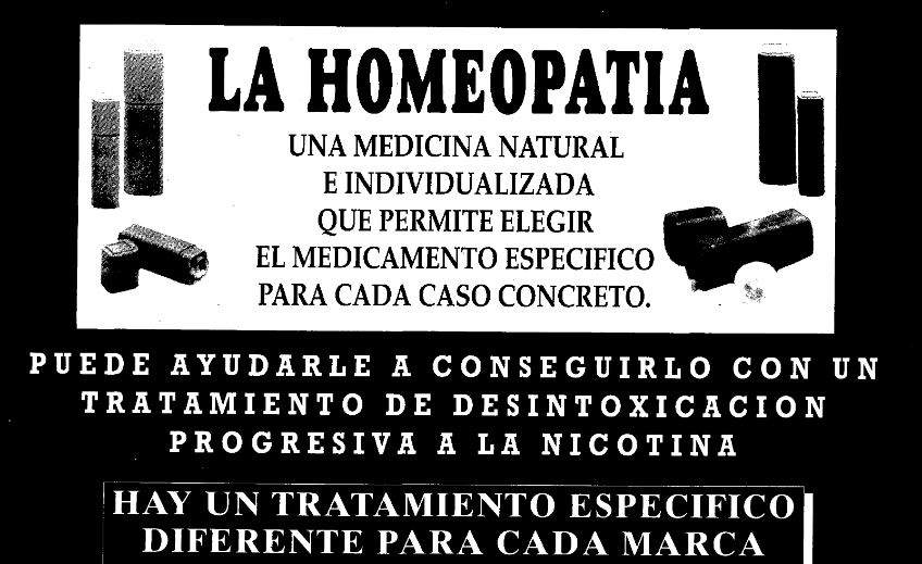 Publicidad homeopática en La Vanguardia (16/11/1992)