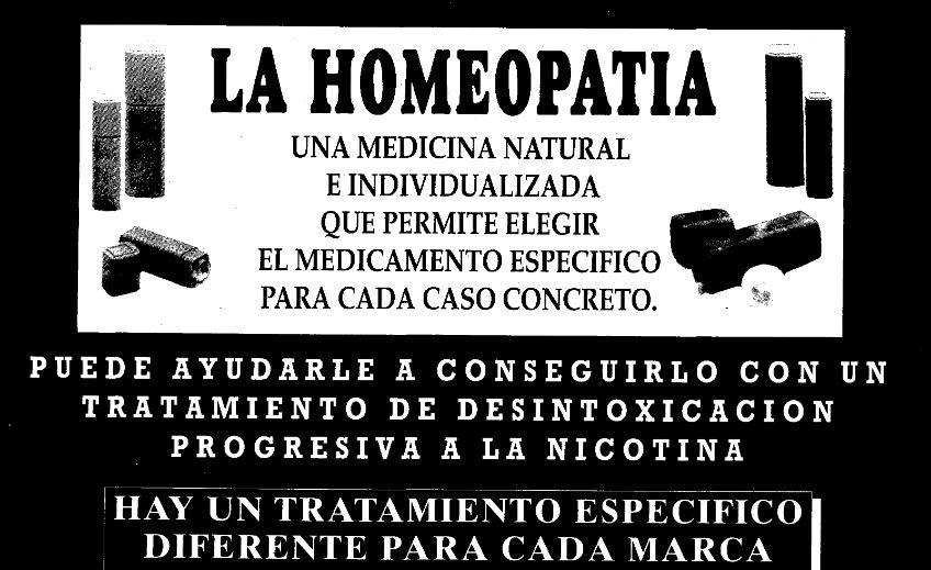 Publicidad homeopática en La Vanguardia (16/11/1992)